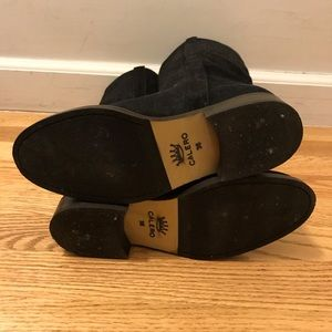 Shoes - Black handmade in Spain suede flat boots